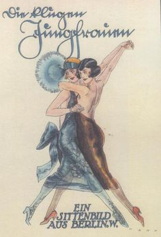 1920s German Cabaret Poster. Cabaret defined the period in Berlin in many remembrances #vintage