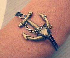bracelet-anchor bracelet-vintage sailing bracelet