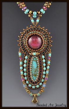 art jewelry   Coming up with the right combination of glass, stone, or crystals to ...