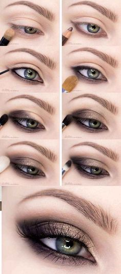 Top tips for a successful make-up of Smoky Eyes. - up - Tipps Top tips for a successful make-up of Smoky Eyes Smoky Eye Makeup Tutorial, Smokey Eye Makeup Look, Eye Makeup Tips, Makeup Tricks, Makeup Tutorials, Makeup Ideas, Makeup Guide, Eyebrow Makeup, Base Makeup