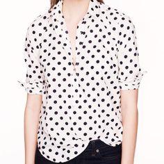 J.Crew Spring 2014 shirt pick #polka dot #jcrew   http://www.ShoppingMyCloset.com