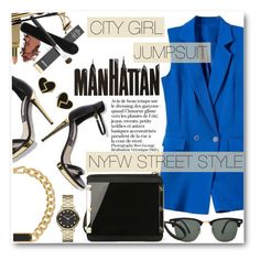 """""""NYFW Street Style"""" by stylemoi-offical ❤ liked on Polyvore featuring Ray-Ban, Marc by Marc Jacobs, nyfwstreetstyle and stylemoi"""