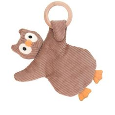 Apple Park Picnic Pal Teething Rattle, Owl by Apple Park. $18.00. Stuffed to be firm with natural corn fiber, these soft friendly teethers are perfect to soothe baby's aching gums. A rattle sounds when the toy is shaken.