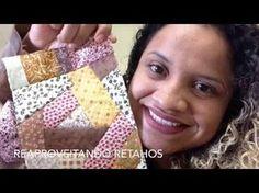 Como reaproveitar retalhos ( crazy patchwork) - YouTube