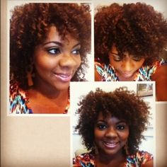 Results of Three Strand Twist Out Love the hair colour