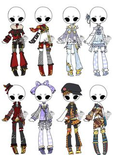 .:Adoptable:. Outfit Batch 06 [1/8] by DevilAdopts.deviantart.com on @DeviantArt