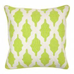 Modern Lime Throw Pillow | Accent Pillow | Silver Nest