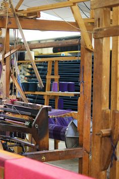 The warping board is where you will find one of our skilled weavers. We are constantly looking ahead to the next cloth and coming up with new ideas & colours #donegaltweed #triona #weaving #irishtraditions #donegal #ardara #handloom #handweaving #tweed #ireland Irish Traditions, Tweed Fabric, Donegal, Hand Weaving, Ireland, Colours, Board, Ideas, Design