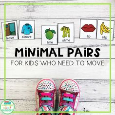 Minimal Pairs Therapy for kids who need to move - Adventures in Speech Pathology Speech Pathology, Speech Therapy Activities, Speech Language Pathology, Language Activities, Speech And Language, Music Activities, Sign Language, Toddler Speech, Minimal Pair