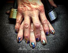 CND nail art work..