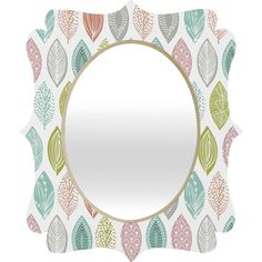 DENY Designs Home Accessories   Wendy Kendall Leaf Pod Quatrefoil Mirror