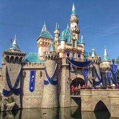 Sleeping Beauty Castle lookin' a bit more bedazzled.