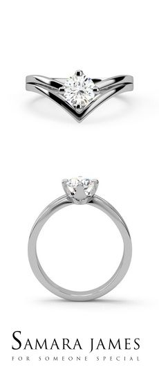 67048af06 AUGUSTA -A shapely 4 claw engagement ring with a split shank, wonderfully  framing a