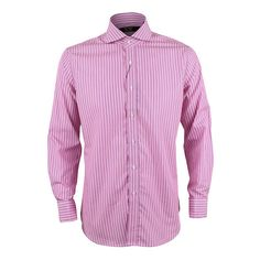 a72b68bb David Wej Long Sleeve Formal Striped Shirt- Pink and Blue Tag a friend who  would