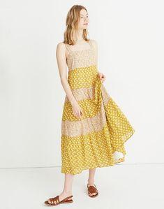 7d14192e9cf Print-Mix Tiered Midi Dress in Jaipur Floral