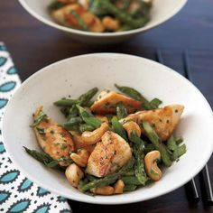 Chicken Stir-Fry with Asparagus and Cashews // More Fast Asian Recipes: http://www.foodandwine.com/slideshows/fast-asian #foodandwine