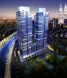 SUMMER SUITES, KUALA LUMPUR, MALAYSIA ////// Two towers of 40-storey office development. #civil #structural #geotechnical #engineering #design #architecture