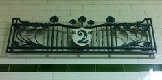 An unexpected ART NOUVEAU touch to the decoration of Regent's Park tube station.
