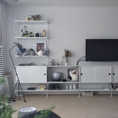 Furniture For Sale Online Living Room Red, Home And Living, Living Spaces, Interior Design Living Room, Living Room Designs, String Shelf, Home Office Setup, Office Ideas, Beautiful Living Rooms