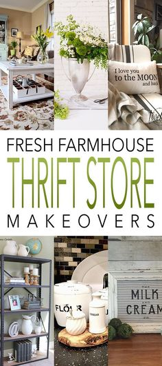 FRESH FARMHOUSE Thrift Store Project you will LOVE!  Come and get inspired and then CREATE!