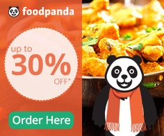 Get 40% off off on first order + 25 % free charge cashback on foodpanda.