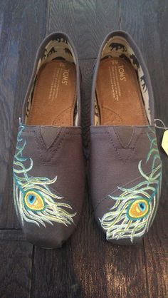 Peacock Feather TOMS made by my cousin, Lauren!!!  $105.00, via Etsy by LaQuist @TOMS.