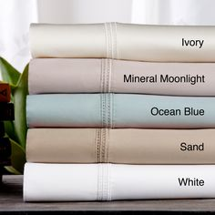 Hemstitch Embroidery Egyptian Cotton 800 Thread Count Sheet Set or Pillowcase Separates | Overstock.com Shopping - The Best Deals on Sheets