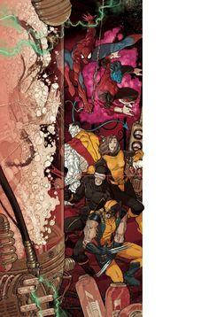 Spider-Man and X-Men by Mario Alberti
