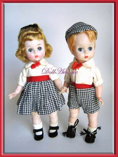 """1960 Madame Alexander-kins Bill and Wendy """"Going to the Circus"""" #320 and #332. www.dollavenue.com"""