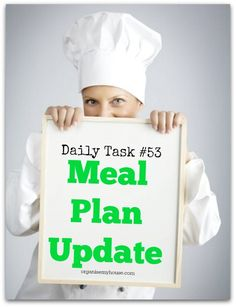 Daily Task 53 - meal plan update