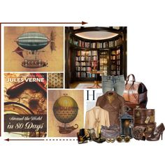 """Around the World in 80 Days: Steampunked"" by ameve on Polyvore I Sci-Fi Won 3rd place!"