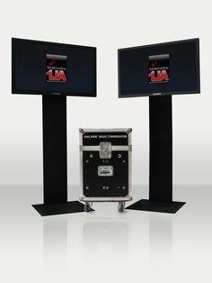 """Alquiler de equipos de video (plasmas 42"""" con bases de 1.80m) para charlas y conferencias."""