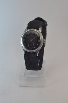 Very Old Soviet Mechanical Vintage Watch Kama. Black Dial, Made In Ussr / Vintage Watch Vintage Kama. --- Size 35 m. Old Watches, Vintage Watches, Trending Outfits, Unique Jewelry, Handmade Gifts, Jewels, How To Make, Etsy, Accessories