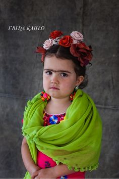 Little Frida Kahlo Kid's Halloween Costume . now this is a serious halloween costume but the poor kid is most likely wanting to be hello kitty. Homemade Halloween Costumes, Diy Halloween Costumes For Kids, Cute Costumes, Fall Halloween, Happy Halloween, Costume Ideas, Funny Halloween, Awesome Costumes, Halloween Photos