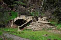 Stone bridge at Alum Rock Park, San Jose, Ca. Landscape Elements, Lawn And Landscape, Landscape Photos, Landscape Paintings, Stone Masonry, Fantasy Art Landscapes, The Great Outdoors, Garden Landscaping, Beautiful Places