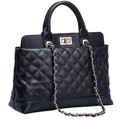 2013-2014 Autumn Winter Collection Quilted Italian Leather Tote Bag