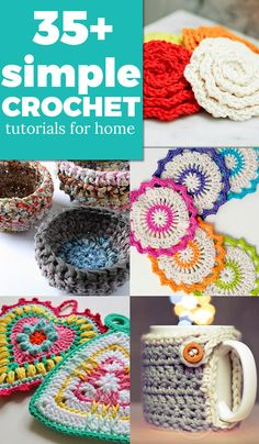 Simple crochet tutorials for home
