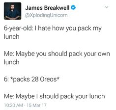 That's what I would do if I packed my own lunch as a kid. Who would still do this?