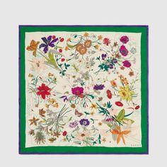 Silk scarf with Flor