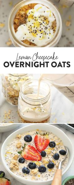 Overnight Oats With Yogurt, Overnight Oatmeal, Chia Seed Overnight Oats, Rolled Oats Recipe Overnight, Healthy Overnight Oats, Yogurt Recipes, Oatmeal Recipes, Muffin Recipes, Healthy Breakfast Recipes
