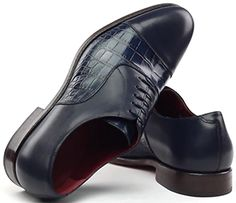 Gresham Blake Navy Croc Oxford Men's Shoes: £195.