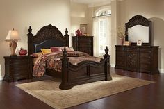 Salvador Bedroom Collection - Value City Furniture-Queen Bed $999.99 Unfortunately, this is what Mitch wants. We're def not seeing eye to eye on what style we want in the bedroom...