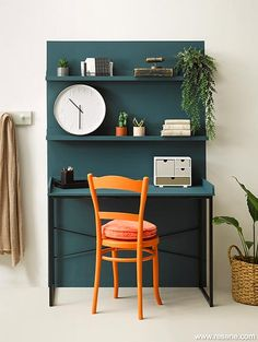 In transition - teen to office space Cool Office Space, Colour Inspiration, Living Room Paint, Colorful Interiors, Decorating Your Home, Living Spaces, Room Decor, Plant Pots, Interior Design