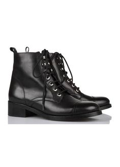 Bottines montantes cuir  Noir by MAJE