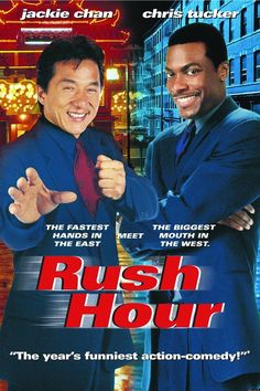 Jackie Chan and Chris Tucker in Rush Hour Chris Tucker, Series Movies, Hd Movies, Movies And Tv Shows, Movies Online, Tv Series, Love Movie, Movie Tv, Hora Do Rush