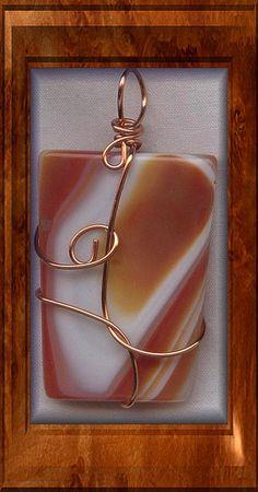 Agate Copper Wire Wrapped Pendant More Mais Copper Wire Art, Copper Wire Jewelry, Wire Jewelry Making, Rock Jewelry, Agate Jewelry, Beaded Jewelry, Handmade Jewelry, Stone Jewelry, Pendant Jewelry