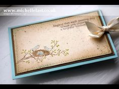 Slider card video tutorial using World of Dreams from Stampin' Up! - Stampin' Up! Demonstrator Michelle Last