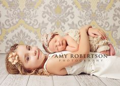 Sister love... great newborn pic idea, with older sibling