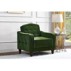Free Shipping. Buy Novogratz Vintage Tufted Armchair, Multiple Colors at Walmart.com