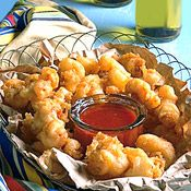 Beer-Battered Shrimp with Chipotle-Honey Sauce: Beer adds both flavor and texture to this lovely batter.